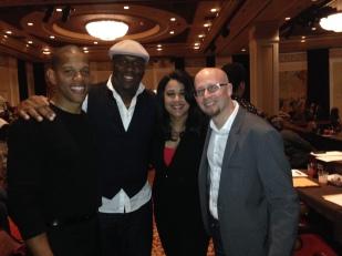 Celebrity judge at Harrah's Casino Talent Show 2013